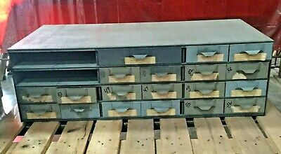 Lyon Metal Supply Bin Cabinet W 19 Drawers 34 X 17 X 10 12