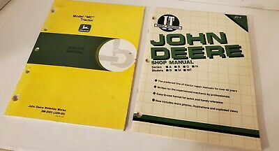 John Deere Shop Manuals Series A B G H Model Mc Tractors