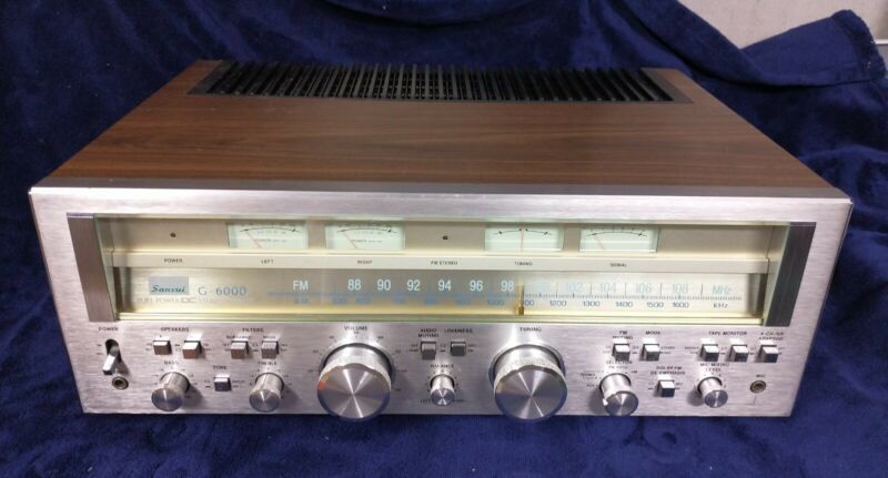 Sansui G-6000 Pure Power DC Stereo Receiver Working Nice!
