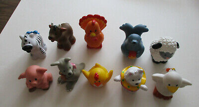 Lot of 10 Fisher Price Little People Mixed Animals (lot#2)