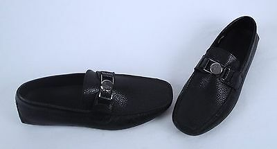 NEW!! Versace Collection Driving Shoe- Black- Size 9 US/ 42 EU  (J20)