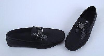 NEW!! Versace Collection Driving Shoe- Black- Size 9 US/ 42 EU  (J20)