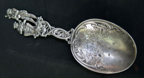 Vintage Continental Silver Serving Spoon