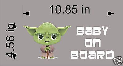 Yoda Baby on Board / Star Wars / Vinyl Vehicle Graphic Decal Sticker / Kids Art](Yoda Baby)