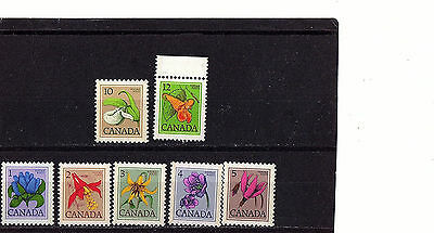 CANADA - FLOWERS - 705-12 SET OF 7 - MINT NH - 1977-8