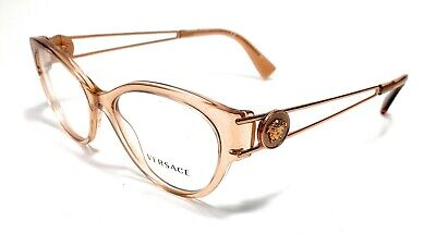 Versace VE3254 5215 Clear Brown Women's Authentic Eyeglasses Frame 52-16