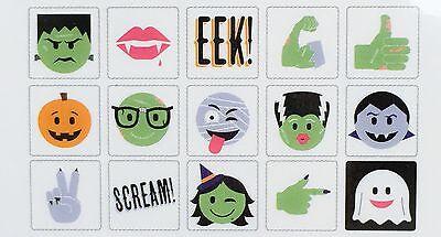 Heidi Swapp Lightbox Icon Inserts- Halloween Emoji Spooks Witch Monster 15 Pcs - Icon Halloween
