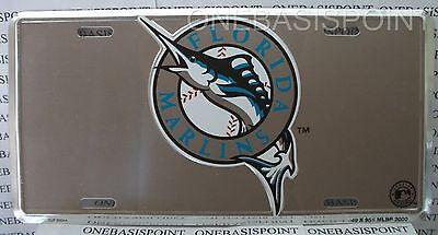 Marlin Tag - Florida Marlins MLB License Plate Tag Aluminum Metal Car Baseball Fan Miami New