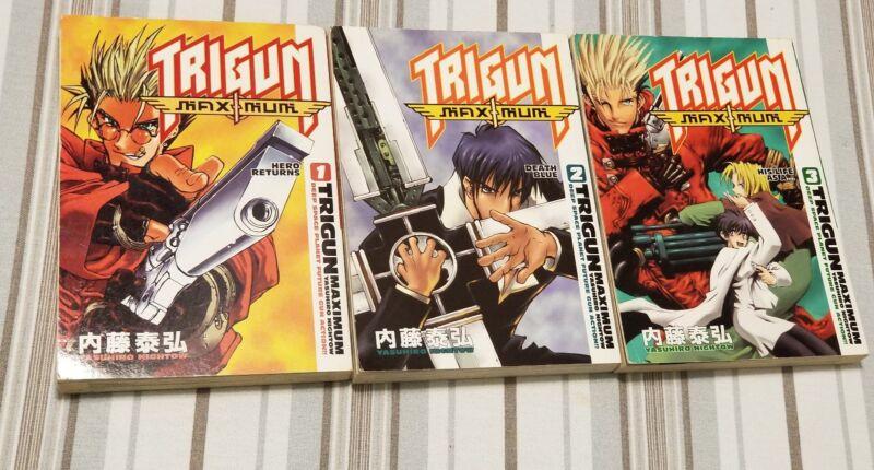Trigun Maximun Manga Vol. 1 - 3 lot