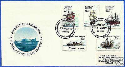 AUSTRALIAN ANTARCTIC TERRITORY, SHIPS OF THE ANTARCTIC, YEAR 1988, FDC.