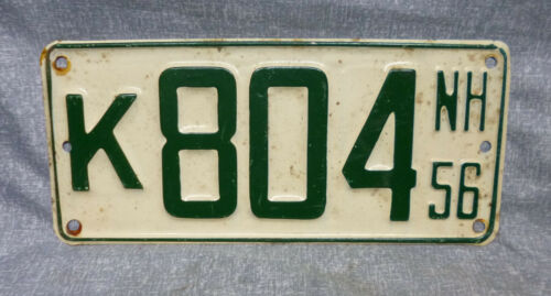 NH New Hampshire 1956 Boat License Plate