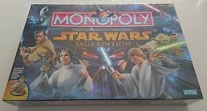 STAR WARS MONOPOLY SAGA EDITION - BRAND NEW - SEALED - P/UP Keperra Brisbane North West Preview