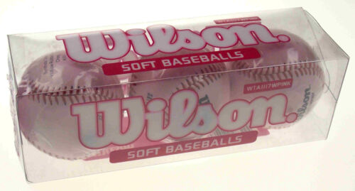 Wilson Soft Pink Girls Baseballs, Set of 3
