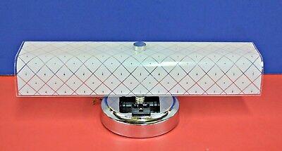 Vintage Bath Light - 1965 NEW VINTAGE White BATH Wall 2-Light Fixture CONVENIENCE OUTLET U-Shade 3914