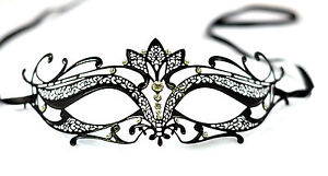 Diamante-Luxury-Venetian-Style-Metal-Filigree-Masquerade-Mask-Prom-Ball-Verona