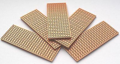 5 x Vero Type Strip Board Stripboard 25 x 64 Veroboard