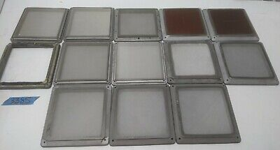 Lot Of 13 Solid Aluminum Frame Silk Or Stainless Screen Appox. 6.625 X 6.625