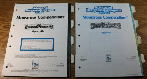 FORGOTTEN REALMS Monstrous Compendium Appendix MC3 2104 MC11 2125 TSR AD&D