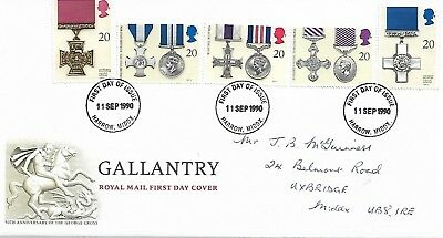 1990 GALLANTRY AWARDS   FIRST DAY COVER    REF 116