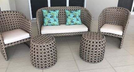 Outdoor furniture table a sofa