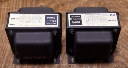 USED Pair Hirata TANGO U-808 for 45, 2A3, 300B, PX25