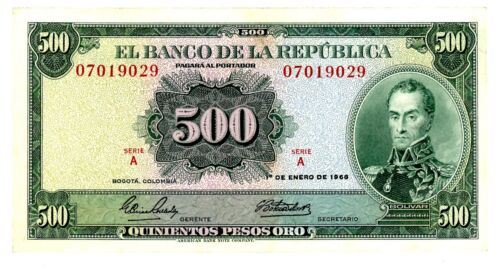 Colombia ... P-411a ... 500 Pesos ... 1968 ... Ch*VF-XF*.