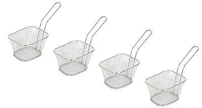Set of 4 Mini Chip Baskets Mini Fryer Serving Food Presentation Basket Kitchen