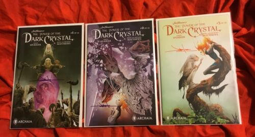 POWER OF THE DARK CRYSTAL #1,2,3~UNLOCKED RETAILER VARIANT~HAND SIGNED JAE LEE