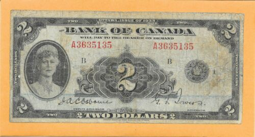 1935 BANK OF CANADA 2 DOLLAR NOTE (CIRCULATED)