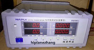 Bench Trms Voltage Current Power Factor Power Meter Analyzer Test Alarm Pm9801