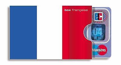 französische KARTENHÜLLE cardbox FRANKREICH Flagge Fahne Tricolore France Paris ()