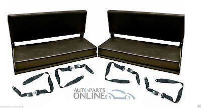 LAND ROVER DEFENDER 90/110  FOLDING REAR BENCH SEATS + 4 LAP SEAT BELTS -RBSK01