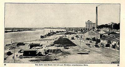 Getreidehafen von Braila Rumänien ( nach Eroberung ) 1.WK  c.1917
