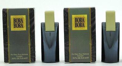 Bora Bora By Liz Claiborne Cologne For Men 0 18 Oz  5 3 Ml Mini In Box Lot Of 2