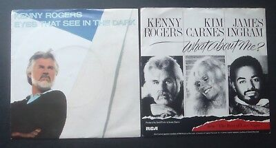 "Kenny Rogers - Eyes that see in the dark & What about me  7"" vinyl x 2"