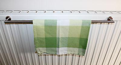 Edelstahl Handtuchhalter 50 cm Magnet Befestigung für Heizkörper Handtuchstange