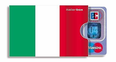 ITALIEN Italia tricolore Fahne Flagge italienische Box Karte (Box-karte)