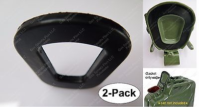 2 PACK WAVIAN / NATO JERRY CAN REPLACEMENT GASKETS FOR 5L 10L 20L CANS & SPOUTS