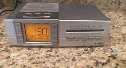 Timex T434S Digital Triple Alarm Clock & Nature Sounds AM FM Radio Sleep Therapy