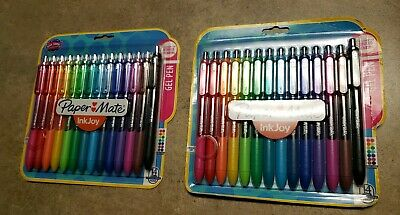 New Paper Mate Inkjoy Gel Pens Fine Point 0.7 Mm 2x14-pack Assorted Colors
