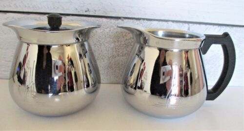 Vintage 1950s Sunbeam Chrome Coffee Creamer Sugar CoffeeMaster VHTF Sought After