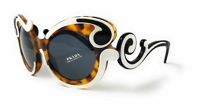 Prada Sunglasses PR23NSF VAL1A1 Ivory Havana/Grey Womens 52X22X140