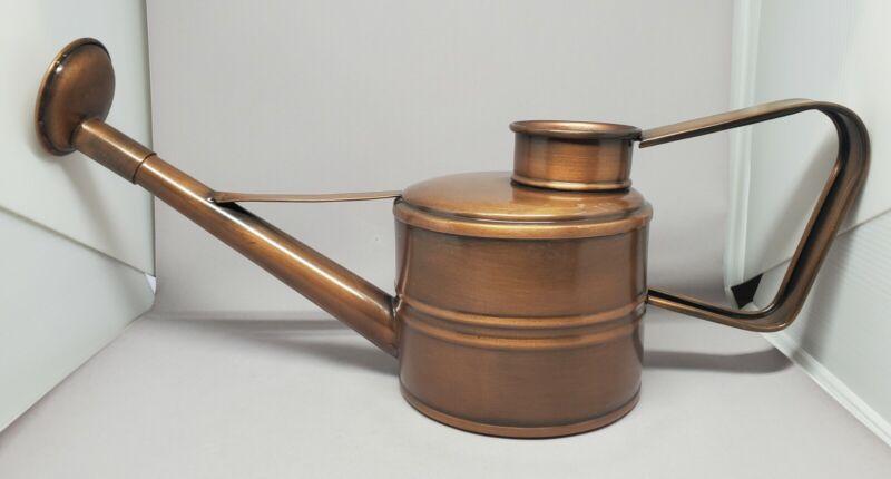 Smith & Hawken Watering Can Long Spout Metal Copper? Brass? Garden Sprinkler