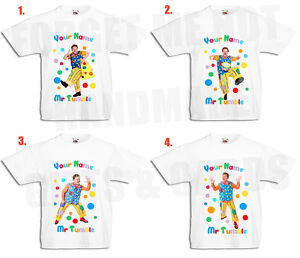 Mr Tumble Personalised Boys, Girls White T Shirt cbeebies 0-3mths to 14-15yrs