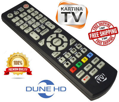 KARTINA TV / DUNE HD ORIGINAL BRAND NEW REMOTE CONTROL  for sale  Shipping to India