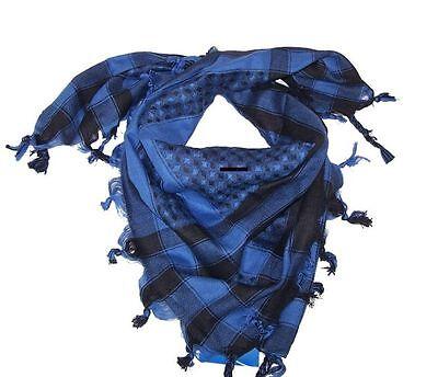Palästinensertuch Halstuch Kufiya 100%Baumwolle Kinder Schal Blau - Schwarz
