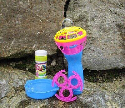 Seifenblasen Handventilator  4er Set pink,gelb,blau 19x25x5cm Spielzeug 50192