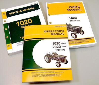 Service Manual Set For John Deere 1020 Tractor Parts Owner Tech Repair Operator