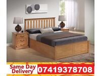 Brand New WOODEN STORAGE BED KINGSIZE Bed Available With Mattress RACHAEL