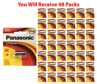 48x Panasonic CR-2 Lithium Battery CR2 CR-2PA 3V Fresh Photo Batteries for sale  Shipping to India